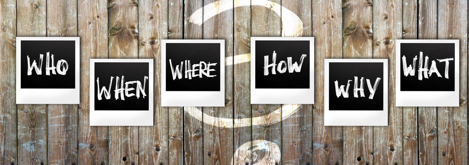 palabras who, when,where, how, why, what. Hacen referncia a qué poner en nuestro curriculum y a la descripción de funciones del puesto.